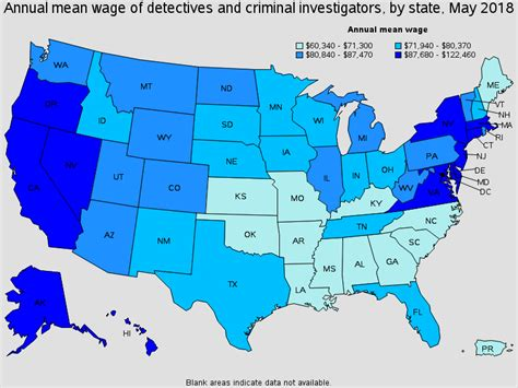 Detective Annual Salary by Detectives And Criminal Investigators