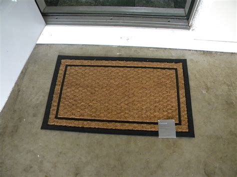 Outdoor Mats For Front Door With Simple Border Double Door