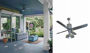 galvanized metal ceiling fans add industrial appearance With barn style ceiling fans