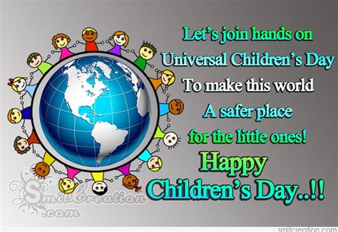 lets join hands  universal childrens day