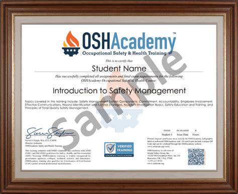 oshacademy  hour osh professional program