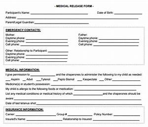 Release Of School Records Form Template Free 10 Sample Medical Release Forms In Pdf Ms Word