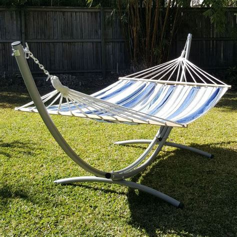 Free Standing Hammock by Xl Free Standing Hammock Blue And White Canvas Hammock