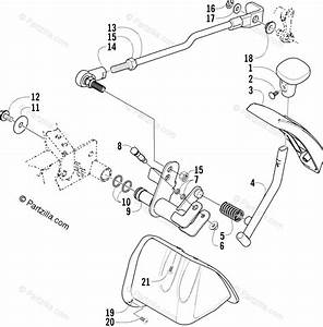 Arctic Cat Atv 2005 Oem Parts Diagram For Reverse Shift Lever Assembly