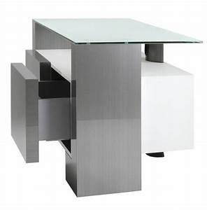 Tv 120 Cm : meuble tv design inox nun 120h de 120 cm meuble tv avec colonne support tv en aluminium bross ~ Teatrodelosmanantiales.com Idées de Décoration