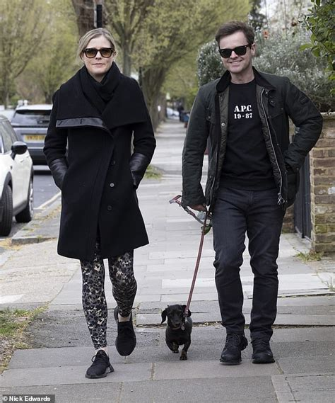 Declan Donnelly and wife Ali Astall are seen for first ...