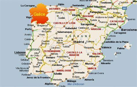 Cote Atlantique Espagne Carte by Galice Espagne Arts Et Voyages