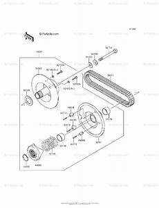Kawasaki Side By Side 2013 Oem Parts Diagram For Driven Converter  Drive Belt