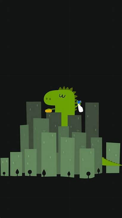 Funny Dinosaur Iphone Cleaning Buildings Wallpapers Ipod