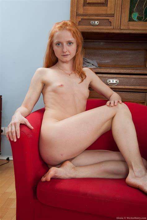 Redhead Alexia Shows Off Her Bush