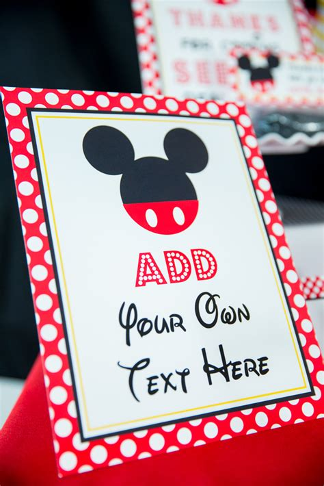 red minnie mouse birthday party printables  invitation