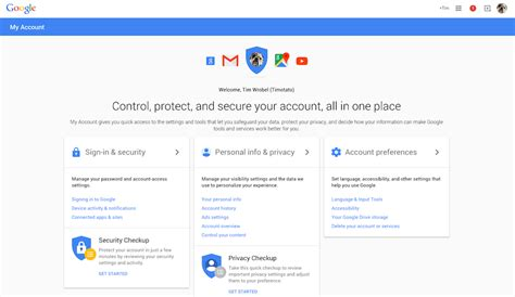 Google Intros My Account Page, Your One-stop Shop For