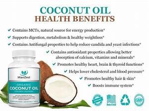 Extra Virgin Organic Coconut Oil Capsules 1000mg