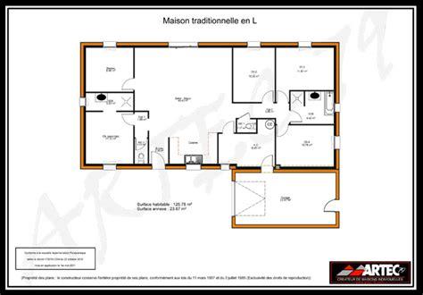 plan de maison moderne plain pied 4 chambres plans de maisons constructeur deux sèvres