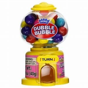 Kidsmania Dubble Bubble Mini Gumball Machine 1.41oz (40g ...