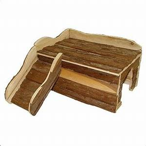 Maison Pour Lapin : maison en bois avec rampe pour lapin nain l39xl50xh25 cm ~ Premium-room.com Idées de Décoration