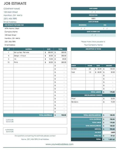 job proposal templates smartsheet
