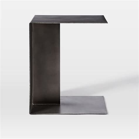 c shaped console table hayes c shaped side table west elm