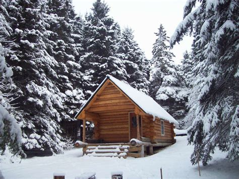 Inside A Small Log Cabins Maine Woods Camps Simple