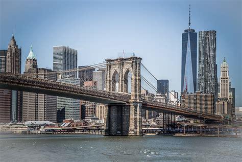Photo Manhattan New York City Usa Brooklyn Bridges Cities