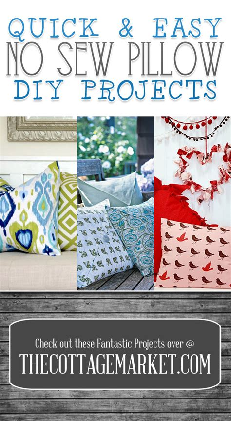 quick easy  sew pillow diy projects  cottage market