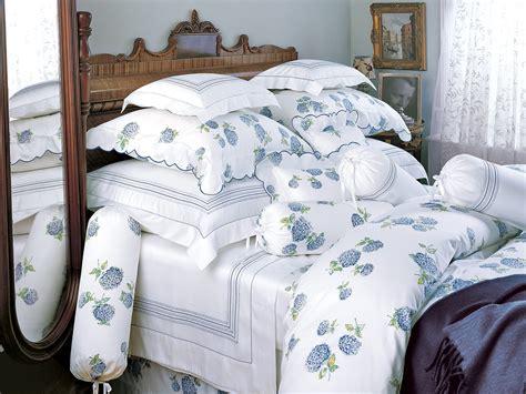 Hydrangea  Fine Bed Linens  Luxury Bedding  Italian Bed