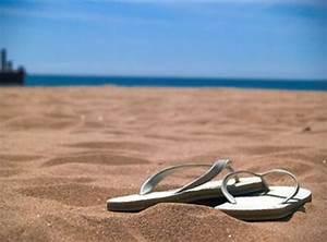 beach, beautiful, flip flops, ocean, sand - image #202017 ...