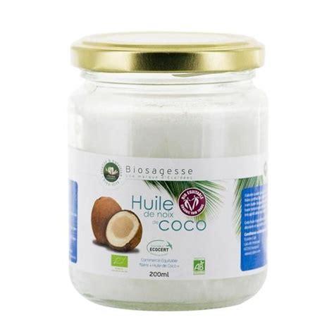 huile de noix de coco cuisine ecoidees huile de noix de coco bio et équitab achat