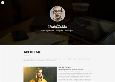 me multipurpose resume portfolio theme nominee