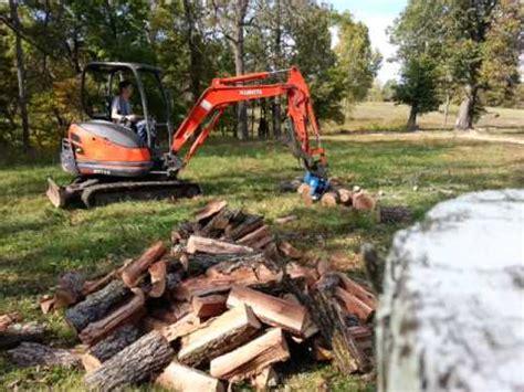 excavator log splitter project youtube