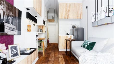 Micro Home Design A Tiny Apartment With Just 18 Square Meter Area 200 Square by World Of Interiors Designing For Small Spaces 5