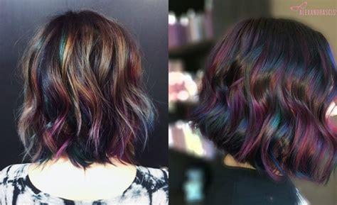 Admiring Brunettes Oil Slick Hair Colors 2017