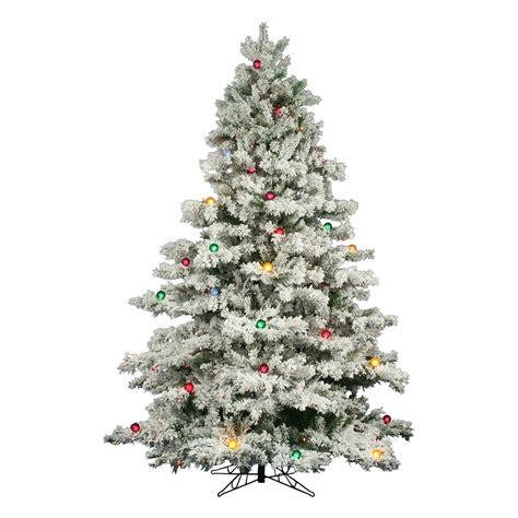 12 foot flocked alaskan christmas tree multi colored mini