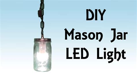 diy step by step tutorial jar led hanging light