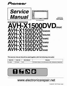 Pioneer Avh X1500 X1550 X1590dvd Service Manual Free