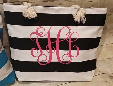 monogrammed beach bag bridal gift monogrammed tote