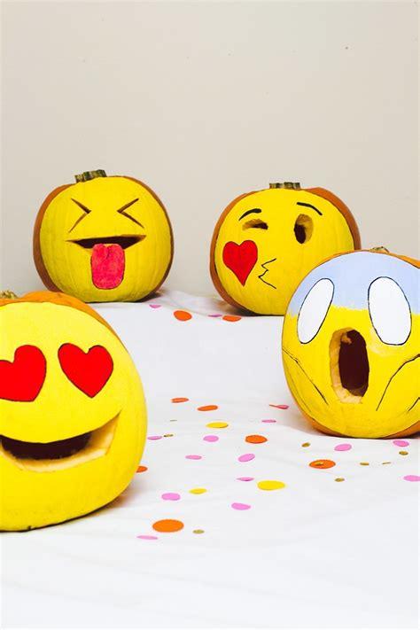 Kuerbis Dekorationsideenselbstdekorierter Kuerbis lustige k 252 rbis vorlagen emoji gesichter