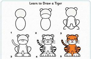 Simple steps to draw Tiger for kids.... #DIY #howto # ...