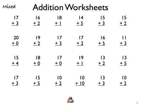 addition worksheets  grade  activity shelter