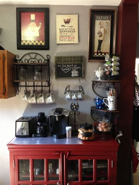 By using the rustic interior design of metal. Unique coffee bar ideas for your home - serve the coffee creatively   Deavita