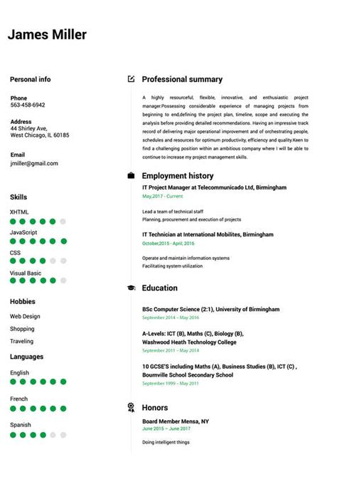 Cv Build by Resume Builder Create A Resume In 5 Minutes