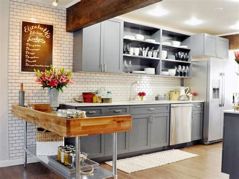 rustic grey kitchen cabinets photos hgtv