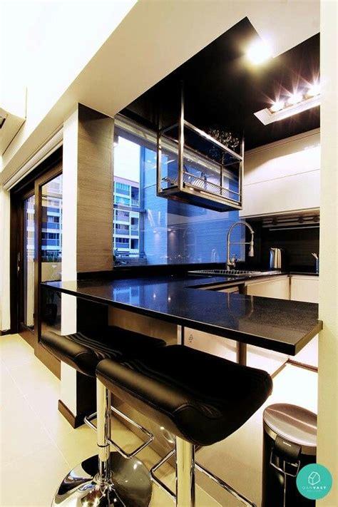 suspended dish rack  ceiling condo kitchen kitchen