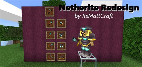 Netherite Redesign Texture Minecraft Pe Texture Packs