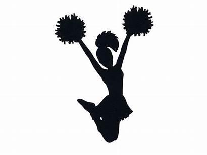 Cheer Cheerleader Silhouette Cheerleading Clip Clipart Transparent
