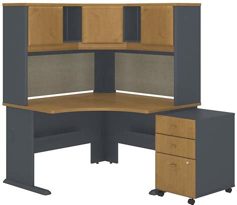 corner desk with hutch and drawers series a collection 48 39 39 w x 48 39 39 d corner desk with hutch