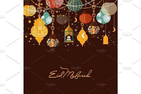 eid mubarak arabic muslim card design    images