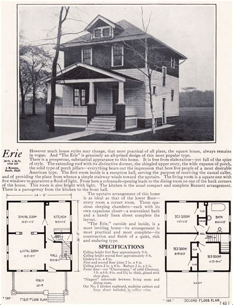 bennett homes  erie american foursquare residential architecture