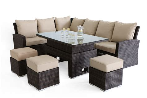 Sofa Dining Set by Maze Rattan Casual Kingston Corner Sofa Dining Set With