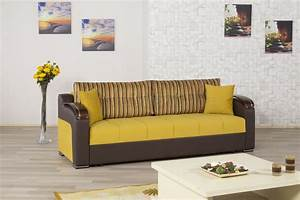 Divan deluxe signature sofa bed in mustard fabric by casamode for Divan sofa bed